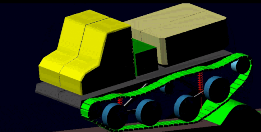 Simulation of a tracked vehicle in MSC.Adams by Jaroslav Matej